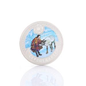 기념품 선물을%s 3D 은 도전 동전을 주문 설계하십시오