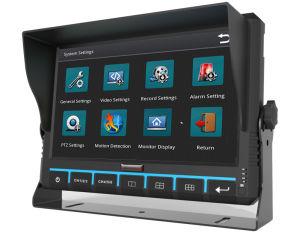 9-дюймовый 6CH Mobile DVR монитора с помощью GPS 3G 4G WiFi G-Sensor дополнительно для шины/погрузчика/такси/транспортных средств