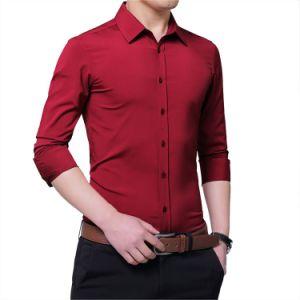 Красивые чисто формальные длинной втулки рубашку для мужчины