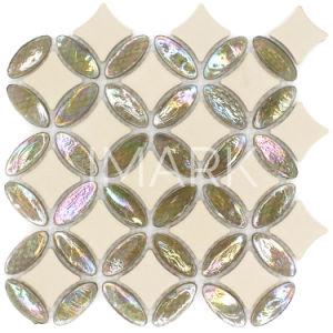 Het iriserende Glas mengde Ceramisch Mozaïek voor de Decoratie van de Tegel van de Bevloering van de Muur