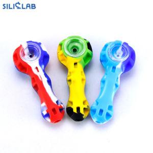Los tubos de silicona con recipiente de vidrio/herramienta DAB Pipa de tabaco