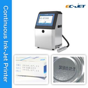 Impresora de inyección de tinta continua para la fecha de caducidad la codificación y marcado (EC-JET2000).