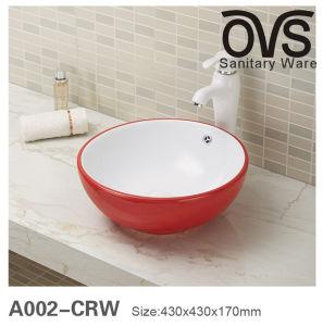 Kreisförmiges rundes Kunst-Bassin-Wäsche-Bassin-Farben-Badezimmer-Bassin
