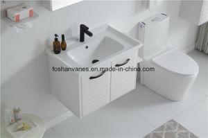 Le contreplaqué de peinture blanche SALLE DE BAINS MEUBLES MDF de la vanité du Cabinet Cabinet du bassin RM8823
