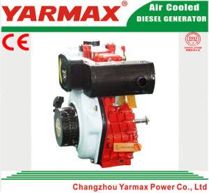 Yarmax 세륨 ISO 디젤 엔진에서 공기에 의하여 냉각되는 단 하나 실린더 186f 6HP 7HP 전기 시작
