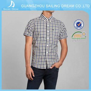 Casual ecologico Plaid Mans T Shirt con Short Sleeve