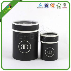 Diseño personalizado de papel de lujo los tubos del cilindro de cartón de embalaje de regalo Caja de ronda