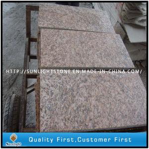 De goedkoopste Gevlamde Tegels van de Straatsteen van het Graniet van de Huid van de Tijger Gele Openlucht
