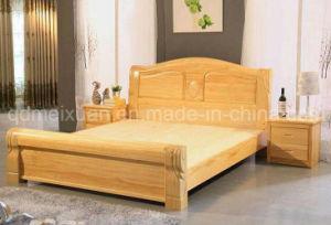 Camas matrimoniales modernas de la base de madera s lida for Cuanto miden las camas matrimoniales