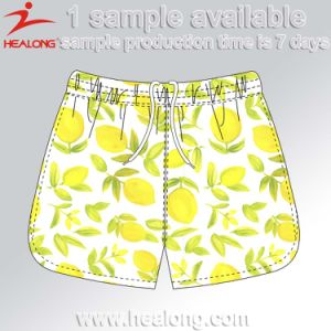 Healong Diseño fresco vestido de sublimación de la Playa de los hombres cortos
