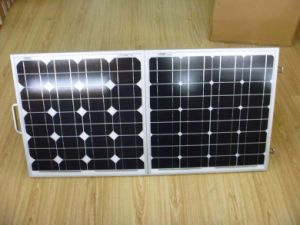Panel solar plegable 120W Fo plegable Camping con sistema de 12 V