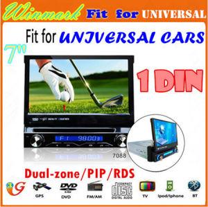 7  USB SD DVD 텔레비젼 Bluetooth Radio Dh7088 (DH7088)를 가진 분리가능한 1 DIN Car GPS DVD