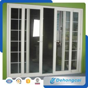 PVC/UPVC/plastica che fa scorrere doppio portello di vetro per l'interiore o l'esterno
