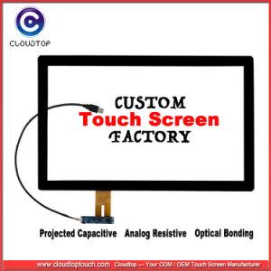 USB Personalizada / RS232/interfaz de i2c de 1,44 ~ 32 pantalla táctil capacitiva proyectada, SGS&Fabricante auditados TUV