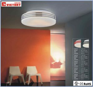 Ronda simples montagem de superfície populares LED de luz de tecto de vidro
