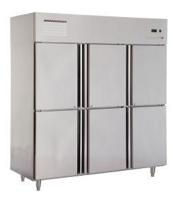 La temperatura de acero inoxidable doble de dos puertas rrefrigerator comercial nevera - Nevera congelador dos puertas ...
