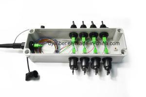 Rectángulo terminal de FTTH con el mini conector impermeable del Sc