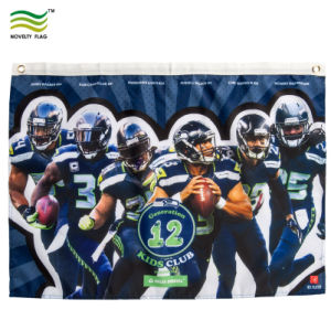 Для использования внутри помещений наружная реклама полиэстер Логотип печать баннера флага