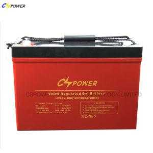 Cspowerの深いサイクルのゲル電池、海洋電池12V 100ah
