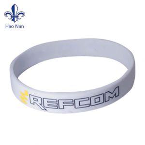 Braccialetto personalizzato del silicone di marchio stampato Wristband del silicone di modo