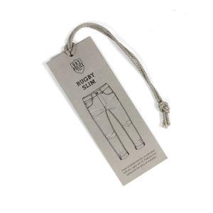 En blanco de alta Quanlity colgar la etiqueta para los pantalones vaqueros