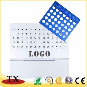 Calendario de escritorio perpetuo de aluminio del metal vendible 2018