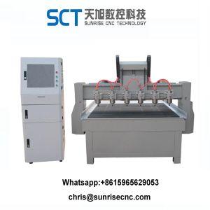 Macchina del router di CNC degli assi di rotazione di verticale sei di Customed del Ce