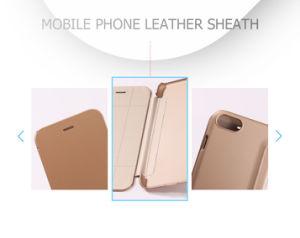Cubierta protectora de cuero de lujo PU antideslizante caso para el iPhone7 Plus