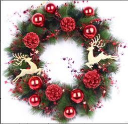 A decoração do Hotel Casa recentemente Natal coroa de flores artificiais