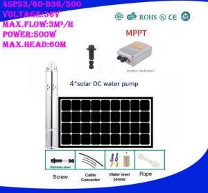 新しい方法24V 140W Solar Energy Bomba高圧農場の潅漑の試錐孔ねじ水ポンプ熱いポンプ3spst1.3/50-D24/140