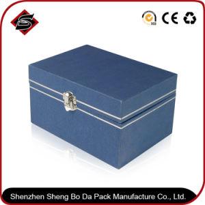 Estilo personalizado papel azul Caja de embalaje para joyería