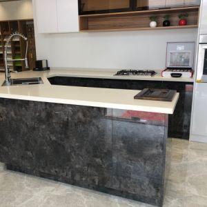 De nieuwe Moderne Houten Keukenkasten van het Huis van de Stijl van het Comité