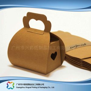 Гофрированный картон бумага для печати упаковки торт в салоне с окошком (xc-fbk-049A)