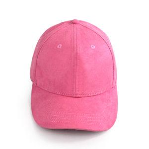 Gorra estructurado de gamuza rosa Cap Gorra de béisbol