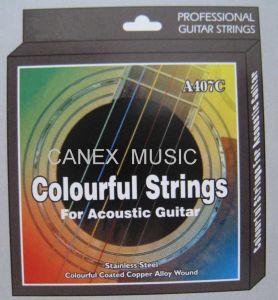 Guitare acoustique Chaîne de couleurs / cordes de guitare / chaîne de couleurs