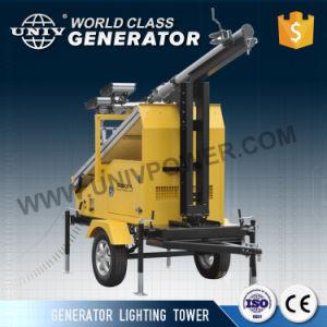 太陽動力を与えられた高く明快なLEDのフラッドライト携帯用移動式軽いタワー