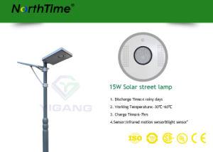lampade di via esterne di illuminazione LED della forza solare Integrated 15W