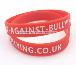 Wristbands stampati promozionali del silicone, braccialetto del silicone