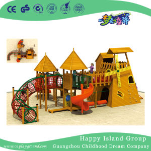 De hete Verkopende Stevige Houten OpenluchtApparatuur van de Speelplaats voor Kinderen (hd-5602)
