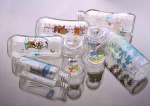 Aceite de lubricación automática una botella plástica Serigrafía la máquina para la etiqueta de color