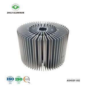 Concurrerende Aluminium zonnebloem-Gevormde Heatsink met het Anodiseren