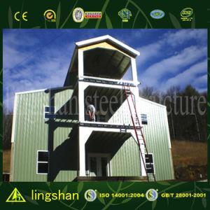 고품질 강철 구조물 판매를 위한 건축 강철 목조 가옥