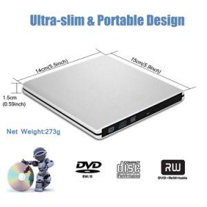 Mac 또는 Laptop/PC (검정)에서 USB3.0 외부 DVD CD 드라이브 가열기 선수