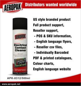 Aeropak 불연성 엔진 전기적 접점 세탁기술자