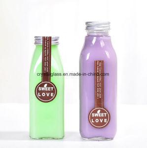 El Té Helado cuadrado botellas de vidrio para bebidas de leche