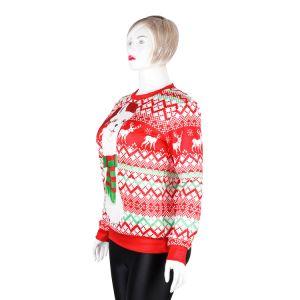 크리스마스 둥근 고리 성숙한 긴 소매 알파카에 의하여 인쇄되는 스웨터