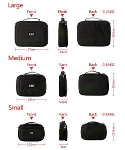 [3بكس] محدّد شريكات يحمل تخزين حقيبة يتعدّد عمل حالة