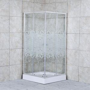 Aluminio brillante Base cuadrada ducha ducha de diseño de carcasa