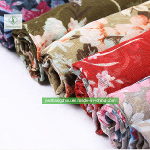印刷された工場を持つFashion PeonyブッシュScarf 100%のViscoseの女性