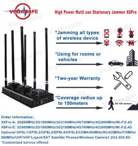 Telefoon van de Hoge Macht van de Stoorzender van Profressional van de hoge Macht de Model: 2g900MHz/2g1800MHz/3G2100MHz/4G700MHz/4G2600MHz/Wi-Fi2.4G
